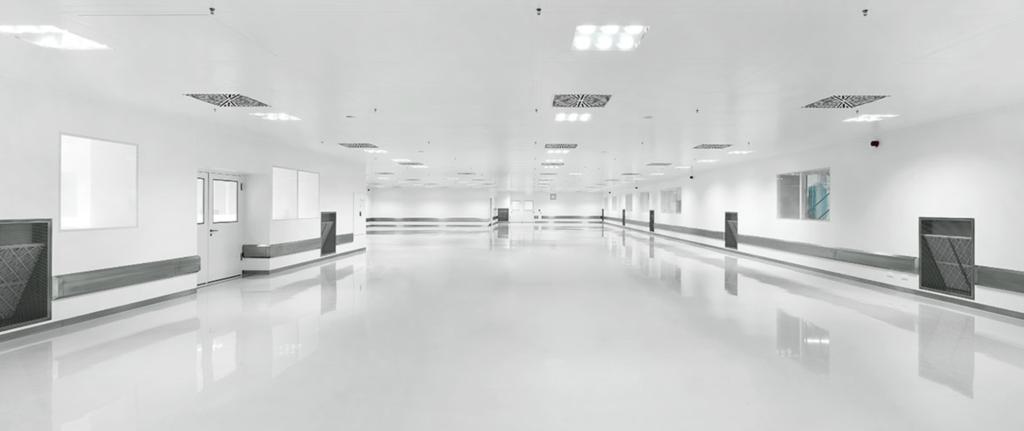 techos para salas blancas
